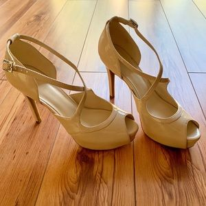 Marc Fisher Tan High Heels Size 7